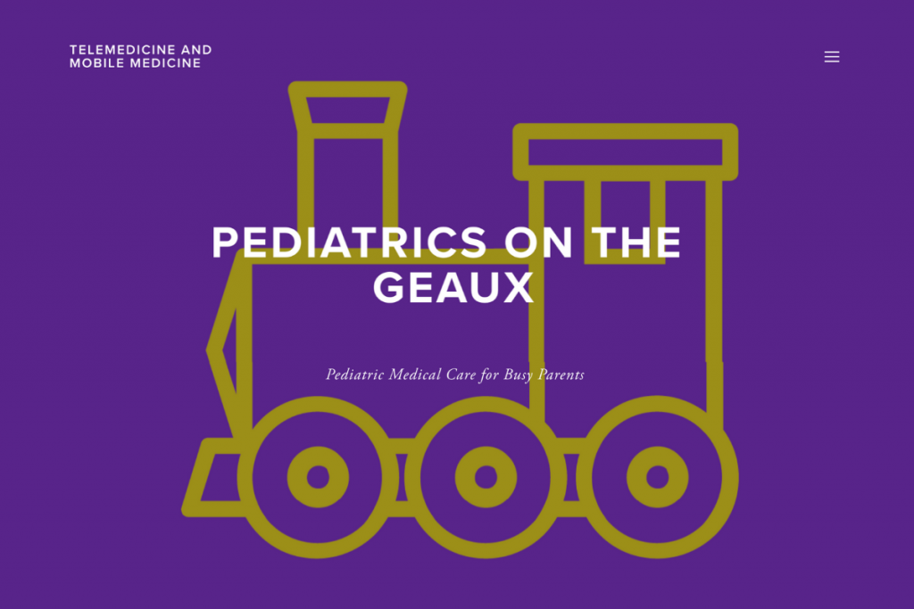 PEDIATRICS ON THE GEAUX Website