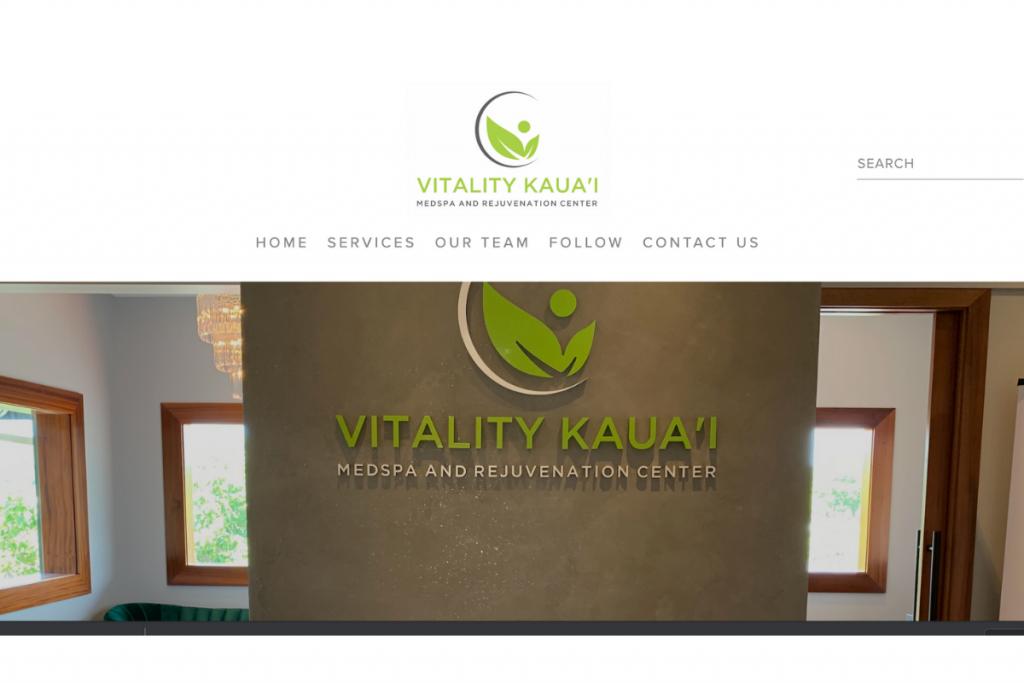 VITALITY KAUA'I Website